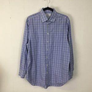 Charles tyrwhitt mens blue classic shirt 16.5 34